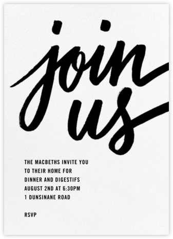 Rosina - White - Paperless Post - Dinner Party Invitations