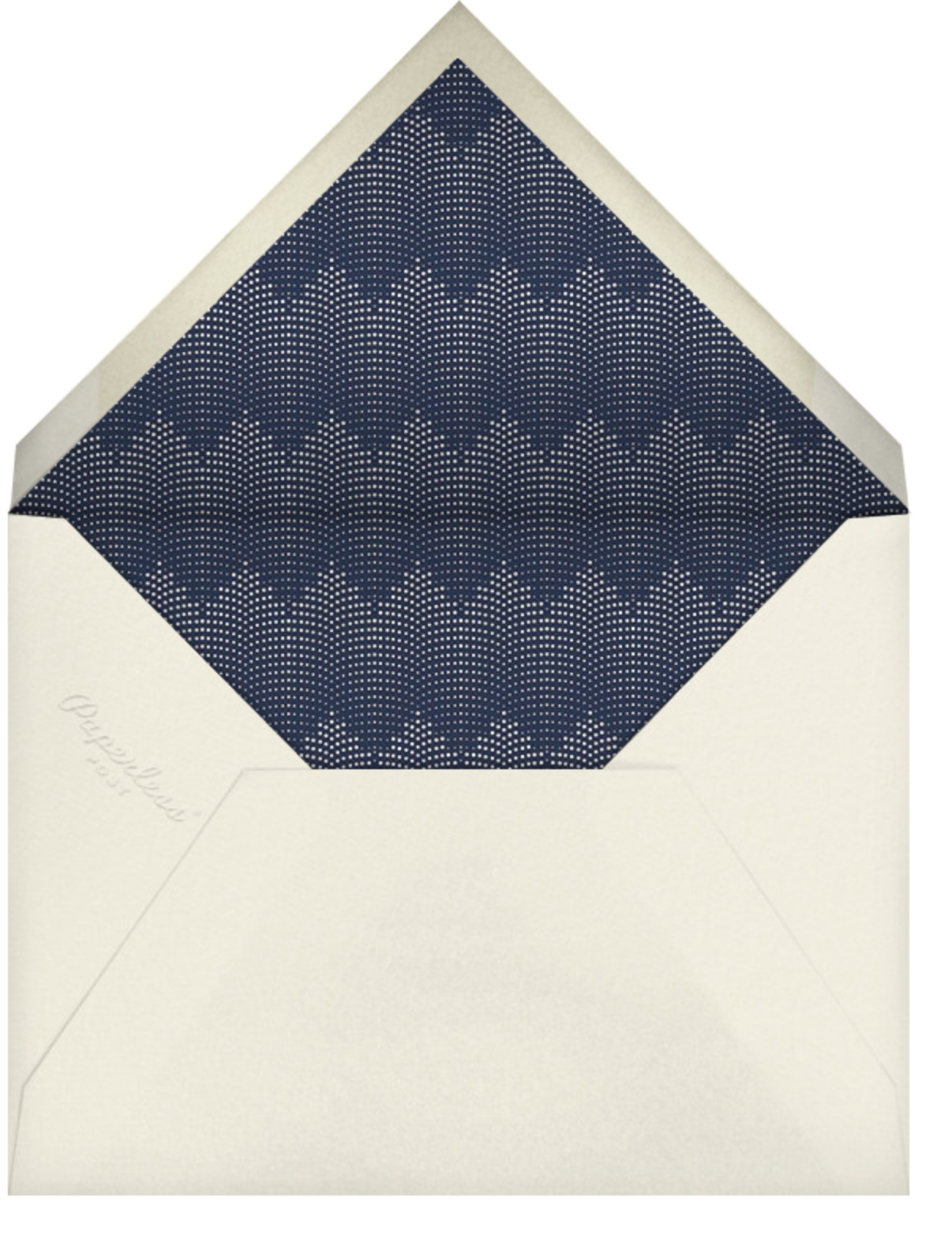 Rosina - Navy - Paperless Post - Housewarming - envelope back
