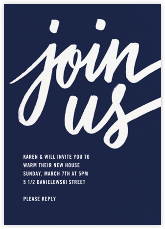 Rosina - Navy - Paperless Post - Housewarming party invitations