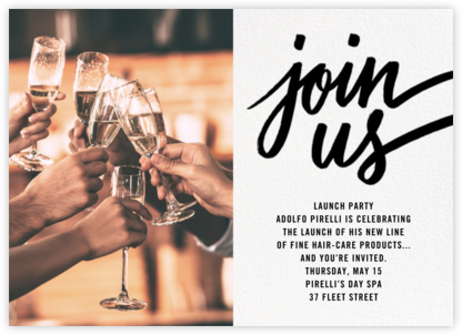 Rosina Photo - Black - Paperless Post - Launch Party Invitations