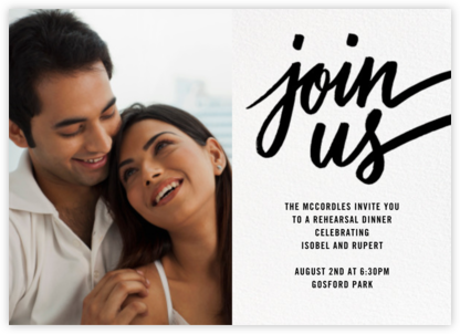 Rosina Photo - Black - Paperless Post - Wedding Weekend Invitations