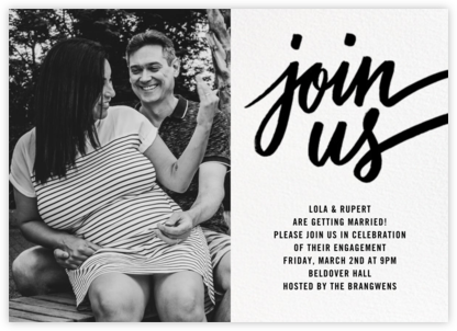 Rosina Photo - Black - Paperless Post - Engagement party invitations