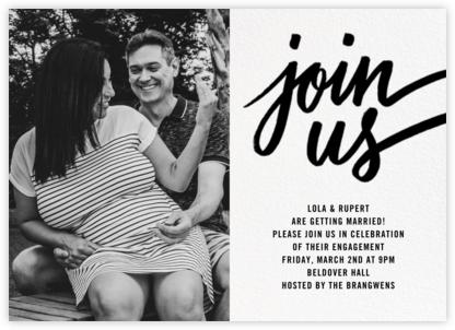 Rosina Photo - Black - Paperless Post - Engagement party invitations