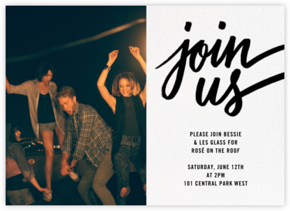Rosina Photo - Black - Paperless Post - Online Party Invitations