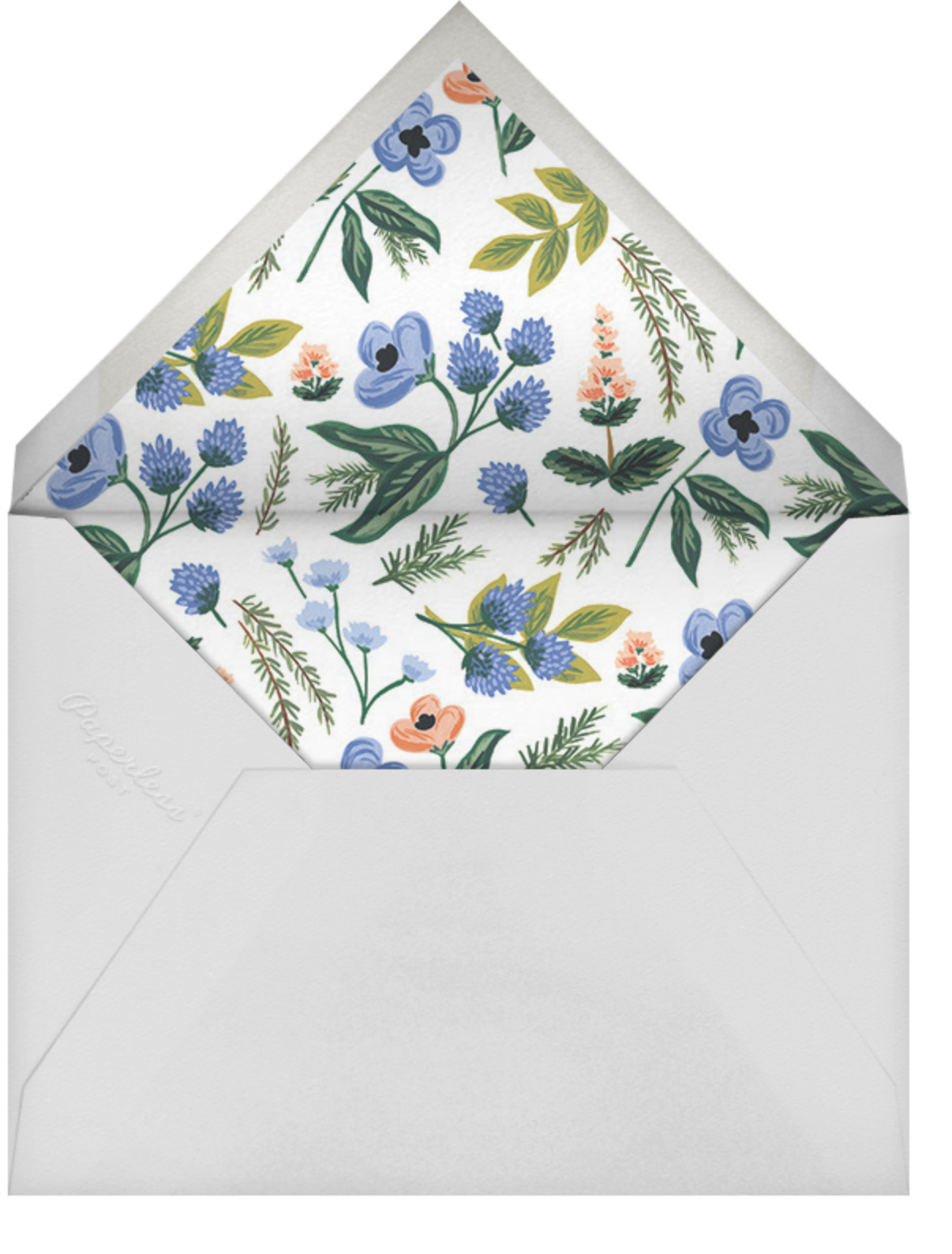 August Herbarium (Photo Announcement) - Rifle Paper Co. - Wedding - envelope back