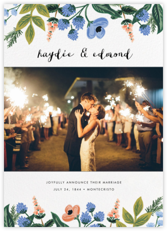 August Herbarium (Photo Announcement) - Rifle Paper Co. - Wedding