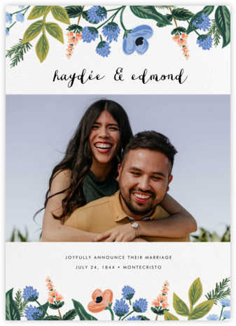 August Herbarium (Photo Announcement) - Rifle Paper Co. - Wedding Announcements