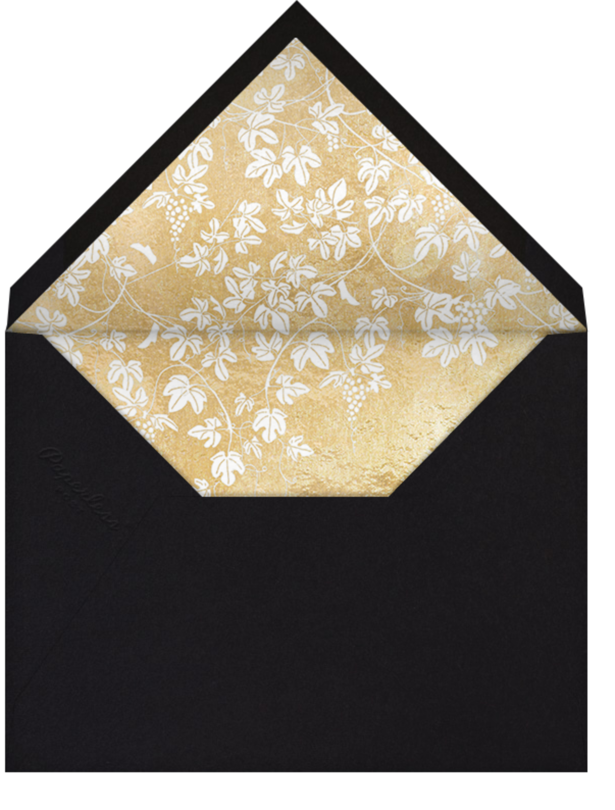 Vineyard II (Photo Announcement) - Gold - Paperless Post - Wedding - envelope back