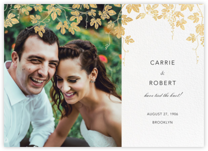 Vineyard II (Photo Announcement) - Gold - Paperless Post - Wedding