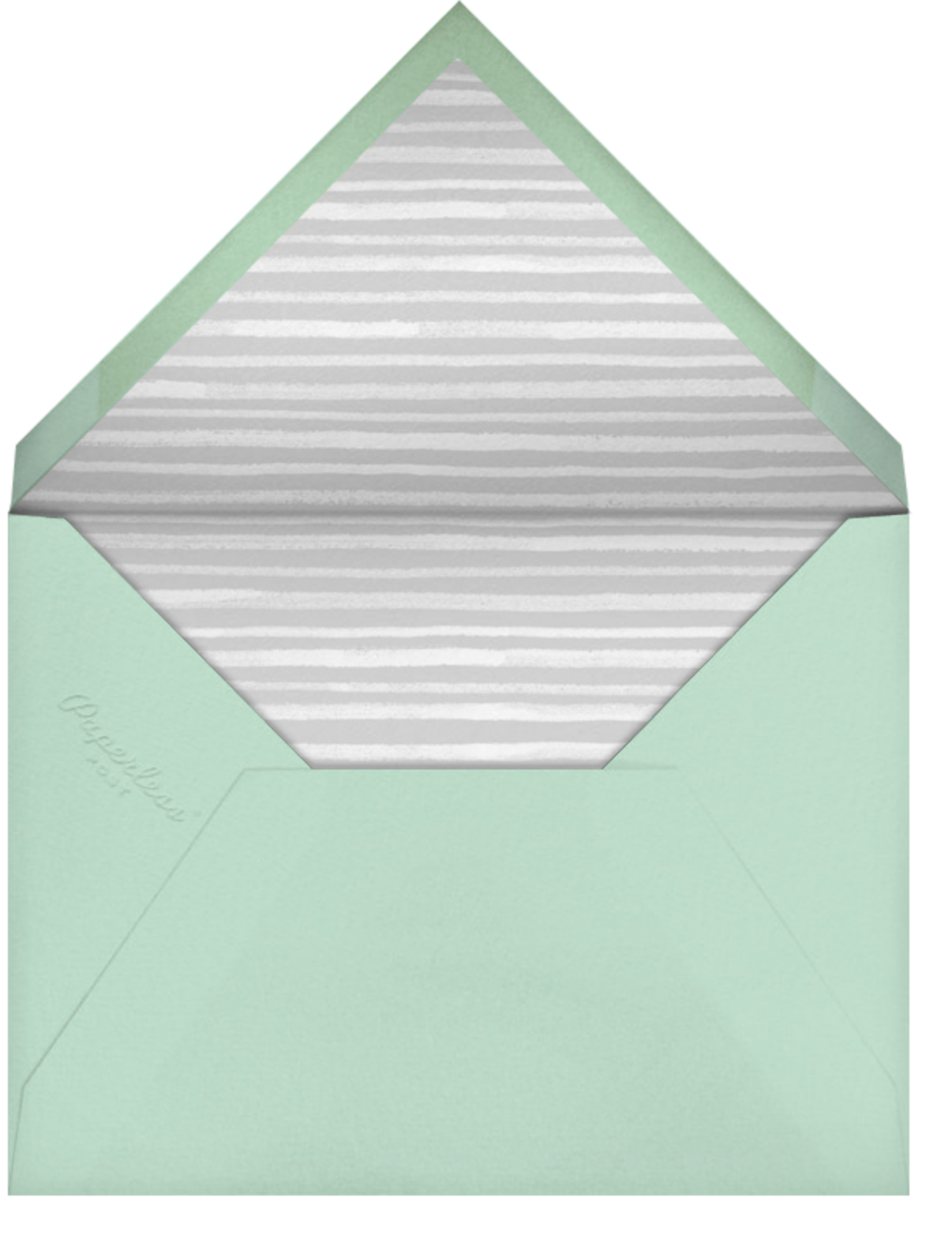 Tropical Palm (Photo Announcement) - Mint - Paperless Post - Wedding - envelope back