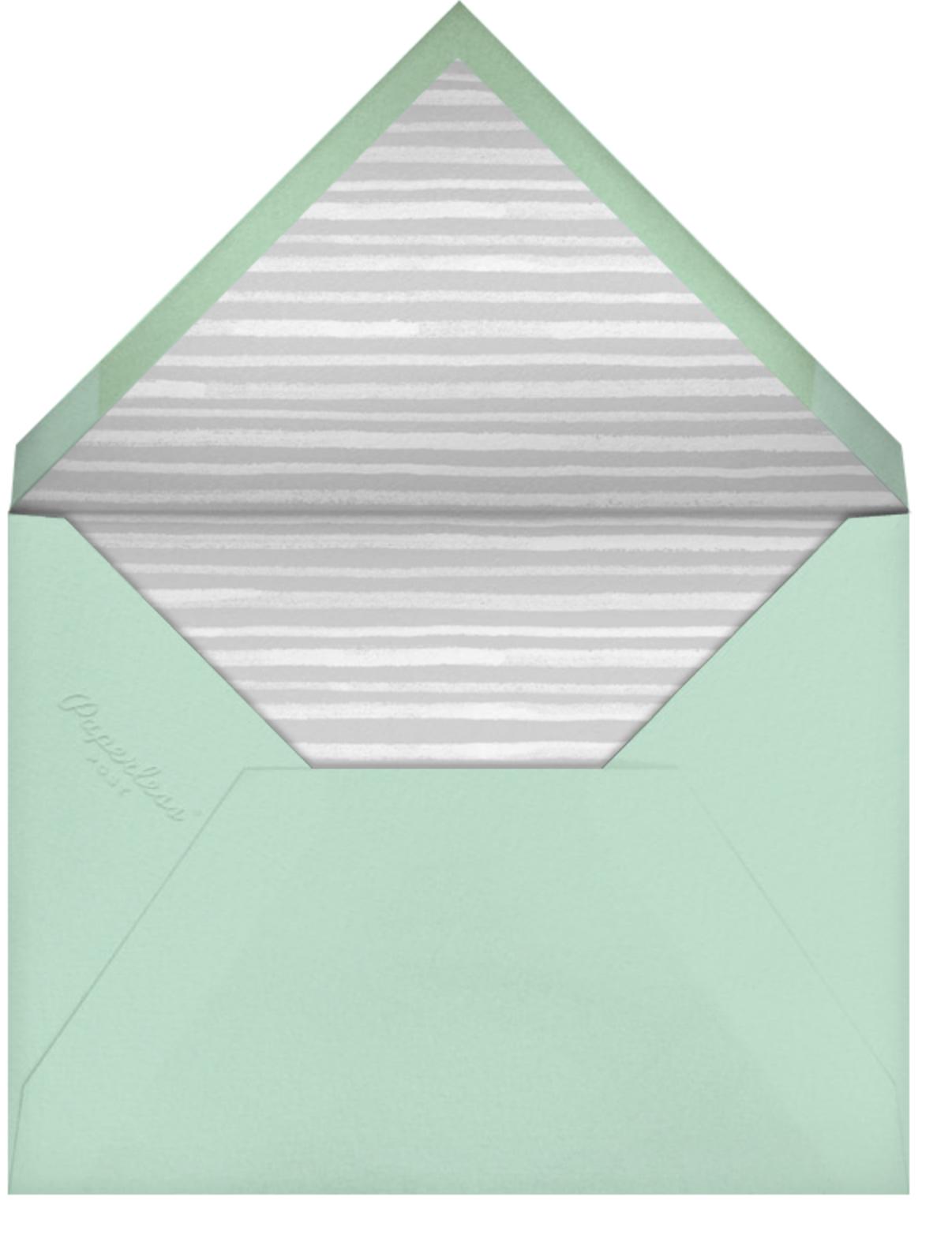 Tropical Palm (Photo Announcement) - Mint - Paperless Post - Envelope