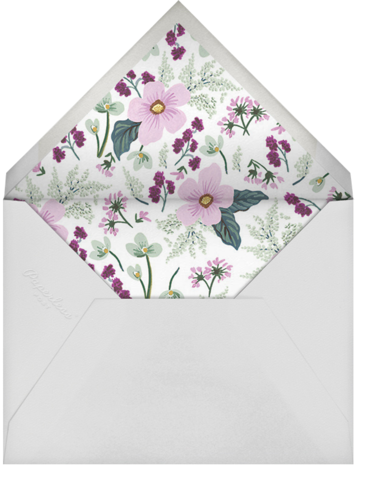 January Herbarium (Photo Announcement) - Rifle Paper Co. - Wedding - envelope back