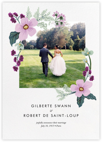 January Herbarium (Photo Announcement) - Rifle Paper Co. - Wedding Announcements