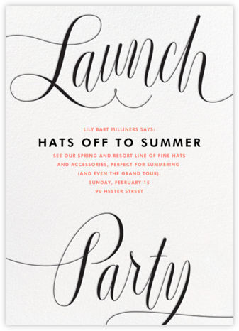 Marcellina - Paperless Post - Launch Party Invitations