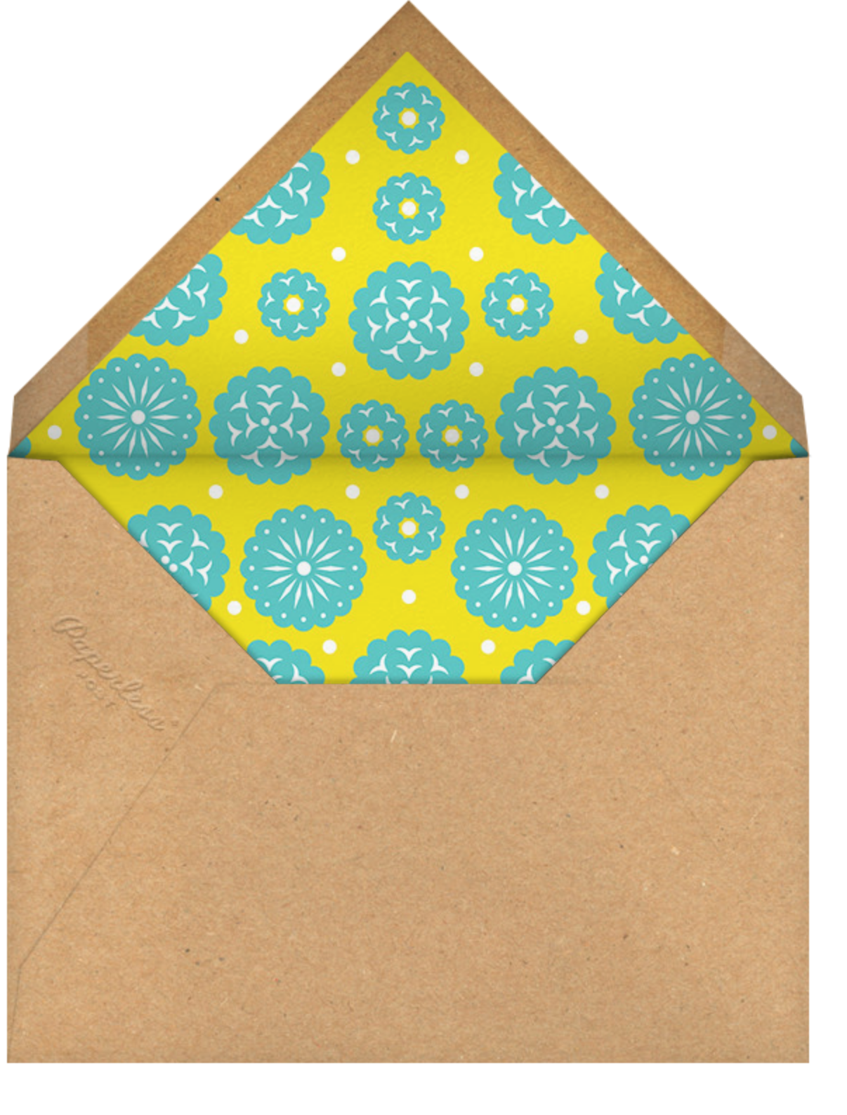 Fiesta Banner - Paperless Post - Kids' birthday - envelope back