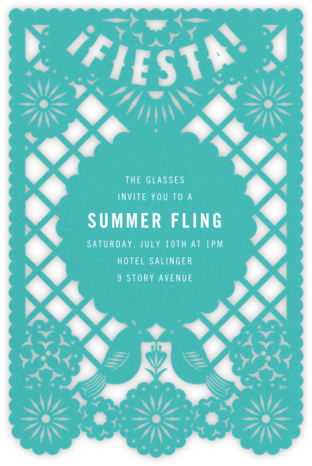 Fiesta Banner - Paperless Post - Summer Party Invitations