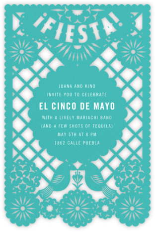 Fiesta Banner - Paperless Post - Cinco de Mayo Invitations