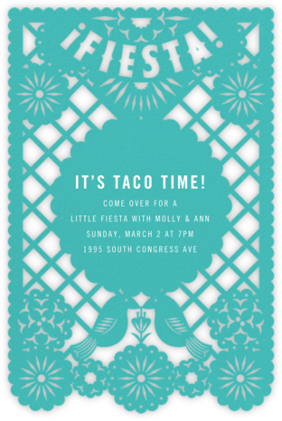 Fiesta Banner - Paperless Post - Dinner party invitations