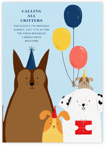Kennel Club - Paperless Post - Kids' Birthday Invitations