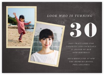 Blackboard Birthday Photo - Thirty - Paper + Cup -