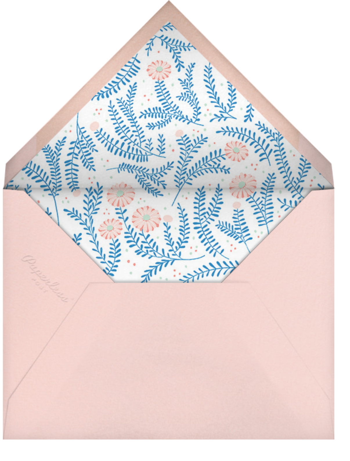 Lady Potts' Cosy - Paperless Post - Baby shower - envelope back