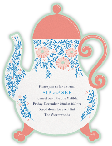 Lady Potts' Cosy - Paperless Post - Sip and see invitations