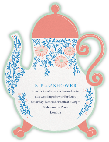 Lady Potts' Cosy - Paperless Post - Bridal shower invitations