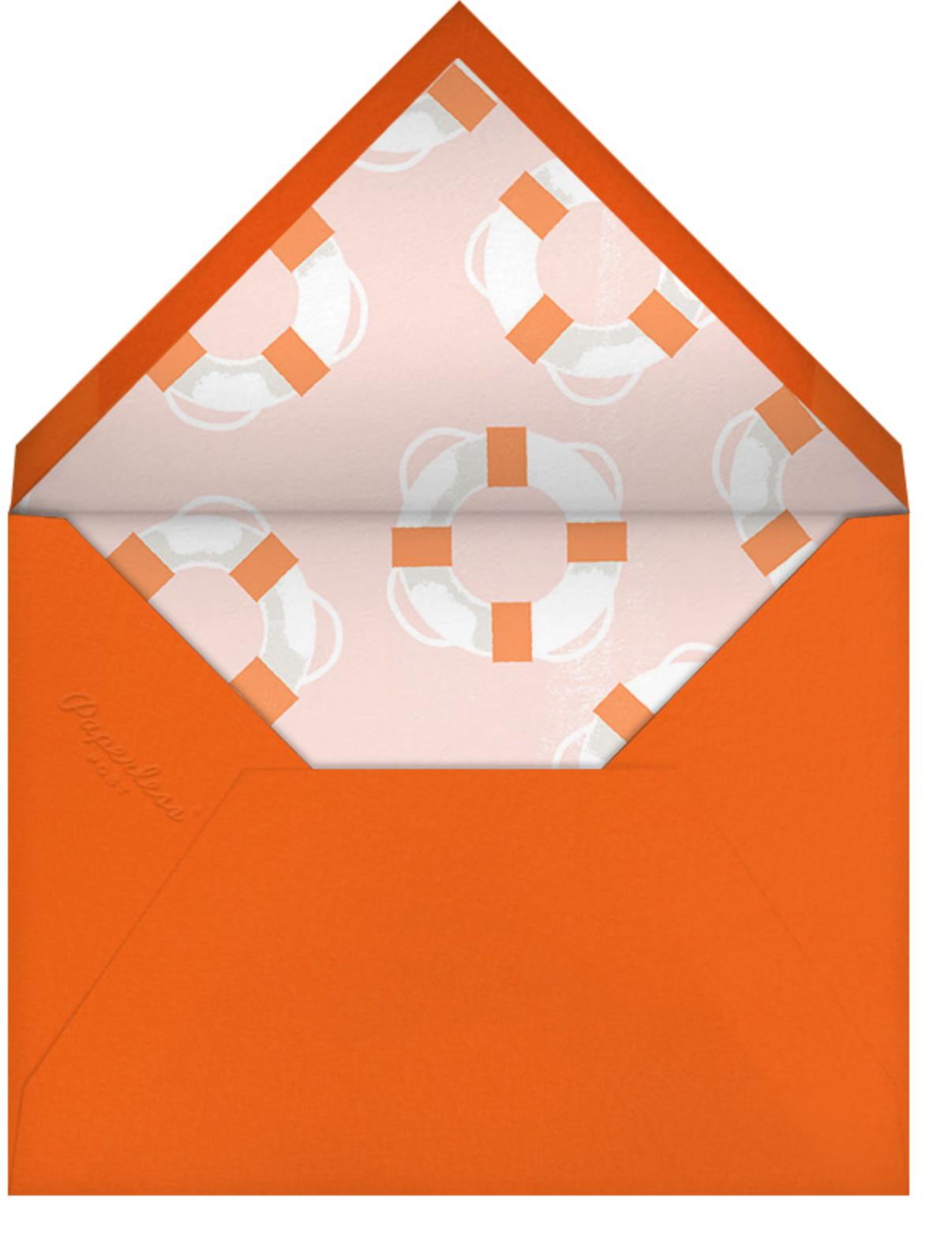 Sailor's Delight - Paperless Post - Baby shower - envelope back