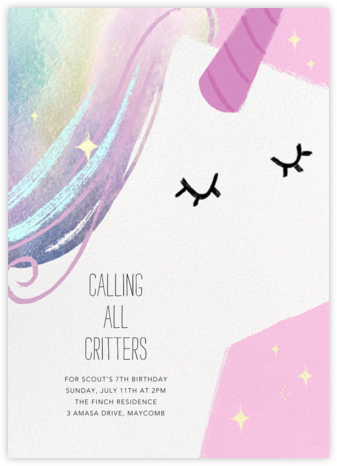 Unicorn Hair - Paperless Post - Online Kids' Birthday Invitations