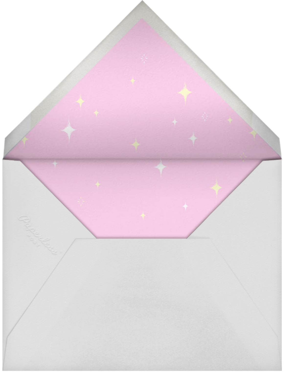 Unicorn Hair - Paperless Post - Adult birthday - envelope back