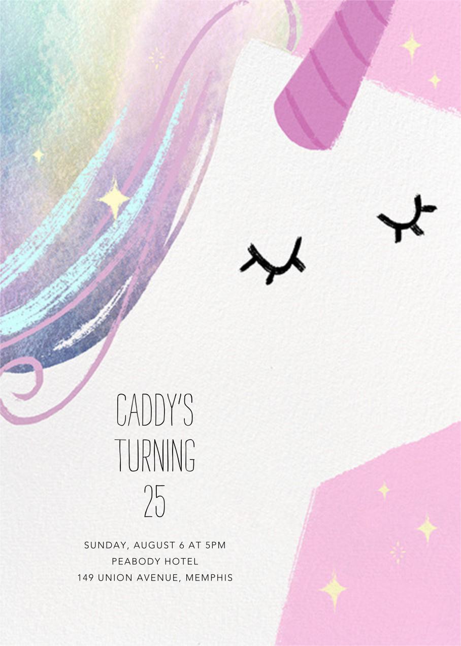 Unicorn Hair - Paperless Post - Adult birthday invitations