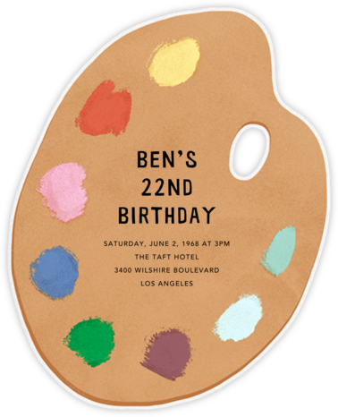Palette Pleaser - Paperless Post - Adult birthday invitations