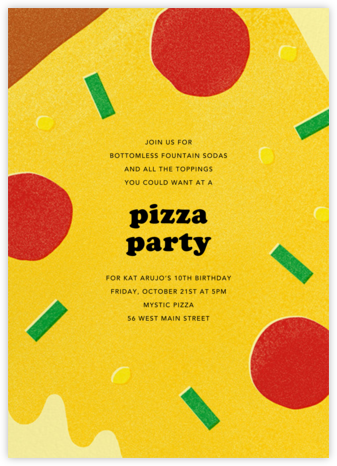 Extra Toppings - Paperless Post - Online Kids' Birthday Invitations