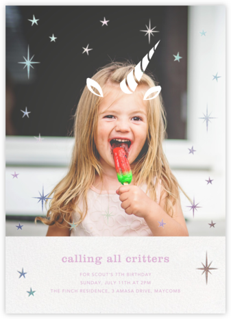 Plenty of Horn - Paperless Post - Kids' birthday invitations