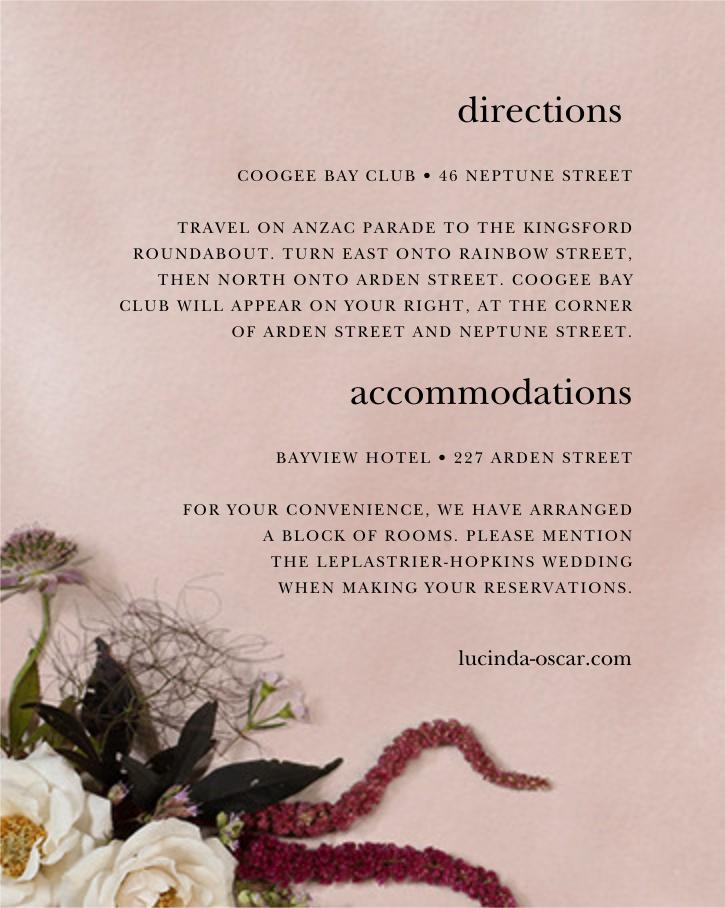 Floréal (Invitation) - Putnam & Putnam - All - insert front