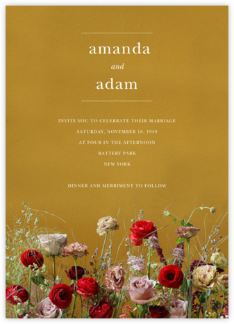 Germinal (Invitation) - Putnam & Putnam - Online Wedding Invitations