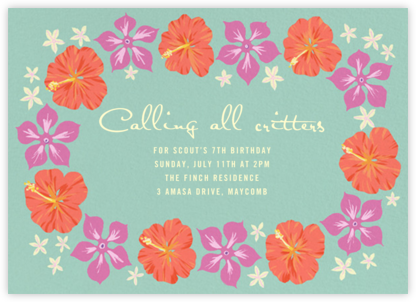 Ala Moana - Paperless Post - Kids' Birthday Invitations