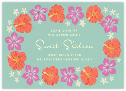 Ala Moana - Paperless Post - Sweet 16 invitations