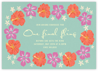 Ala Moana - Paperless Post - Bachelorette party invitations