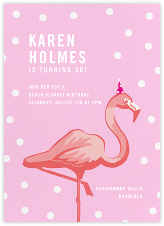 Pink Flamingos - Paperless Post - Adult Birthday Invitations