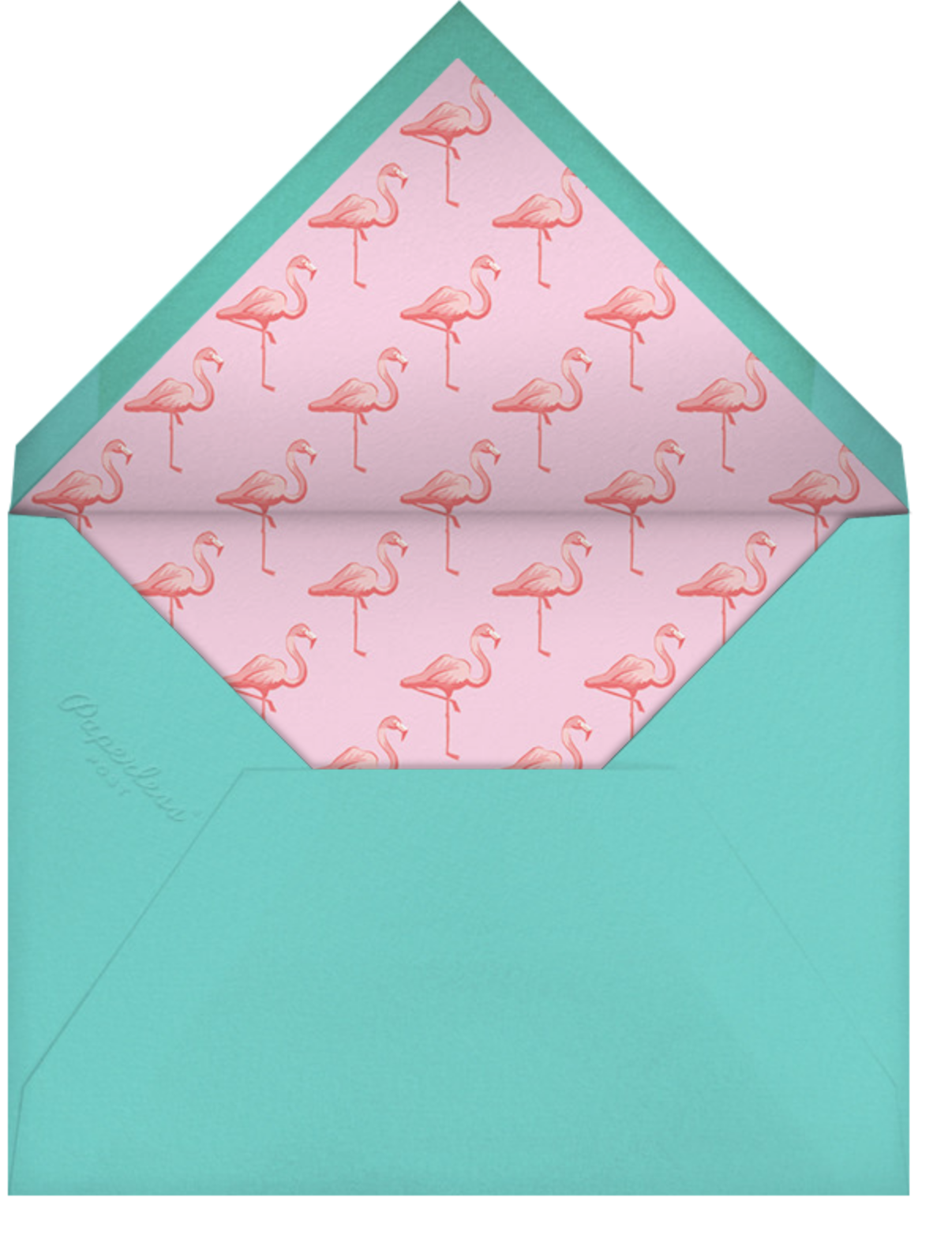 Pink Flamingos - Paperless Post - Kids' birthday - envelope back
