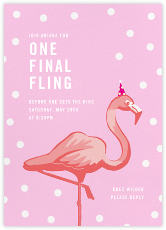 Pink Flamingos - Paperless Post - Bachelorette party invitations