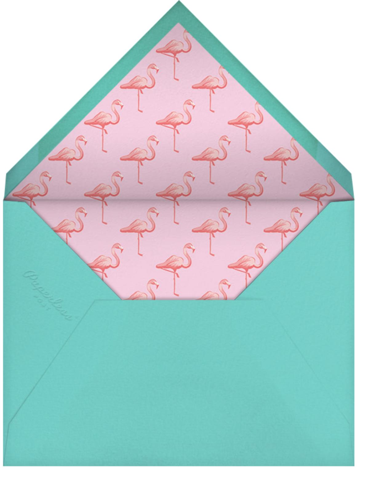 Pink Flamingos - Paperless Post - Summer entertaining - envelope back