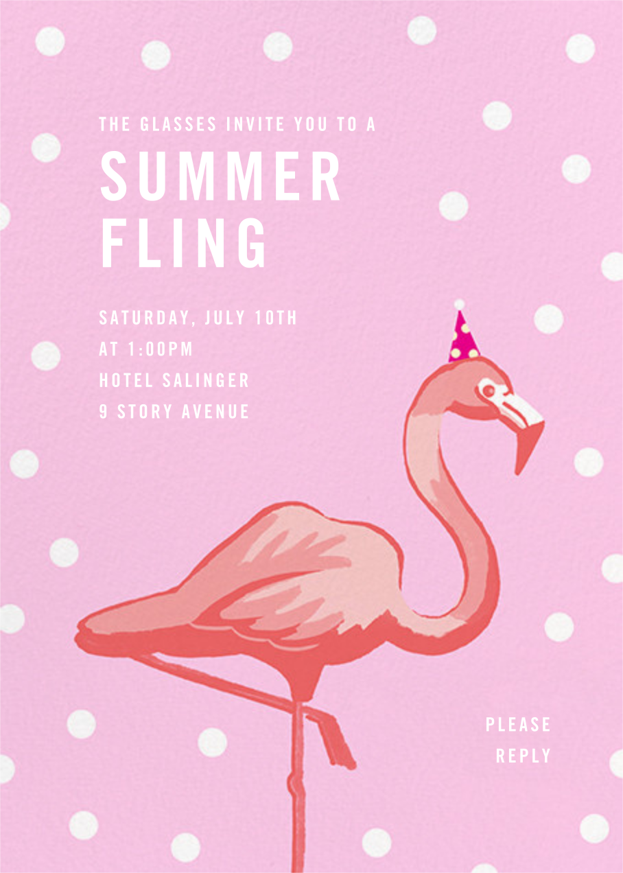Pink Flamingos - Paperless Post - Summer entertaining invitations