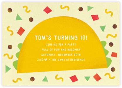 Taco Placeros - Paperless Post - Online Kids' Birthday Invitations