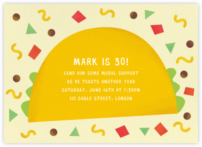 Taco Placeros - Paperless Post - Adult Birthday Invitations
