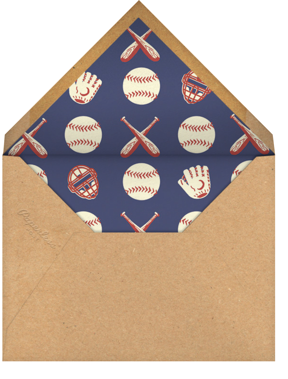 Batter Up (Photo) - Paperless Post - Father's Day - envelope back
