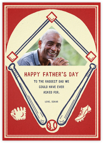 Batter Up (Photo) - Paperless Post - Father's Day Cards