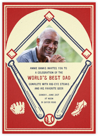 Batter Up (Photo) - Paperless Post - Father's Day Invitations