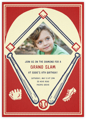 Batter Up (Photo) - Paperless Post - Invitations